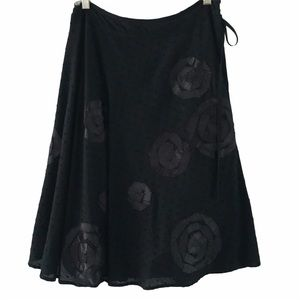 Beth Bowley Dotted Swiss Skirt w Ribbon Floral